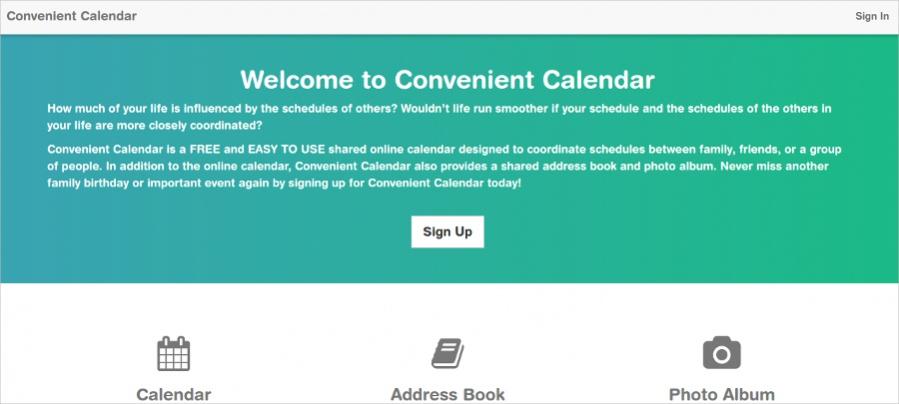 Convenient Calendar - Online Calendar Design