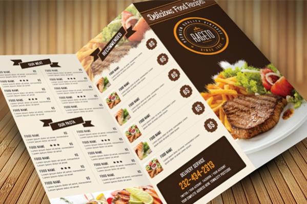 cool food menu design