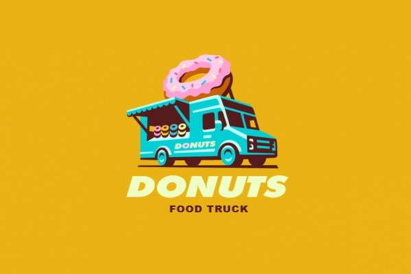 Cool Food Truck Logo Design