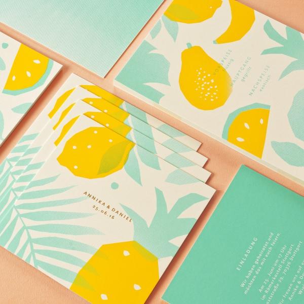 Cool Tropical Wedding Invitation Design