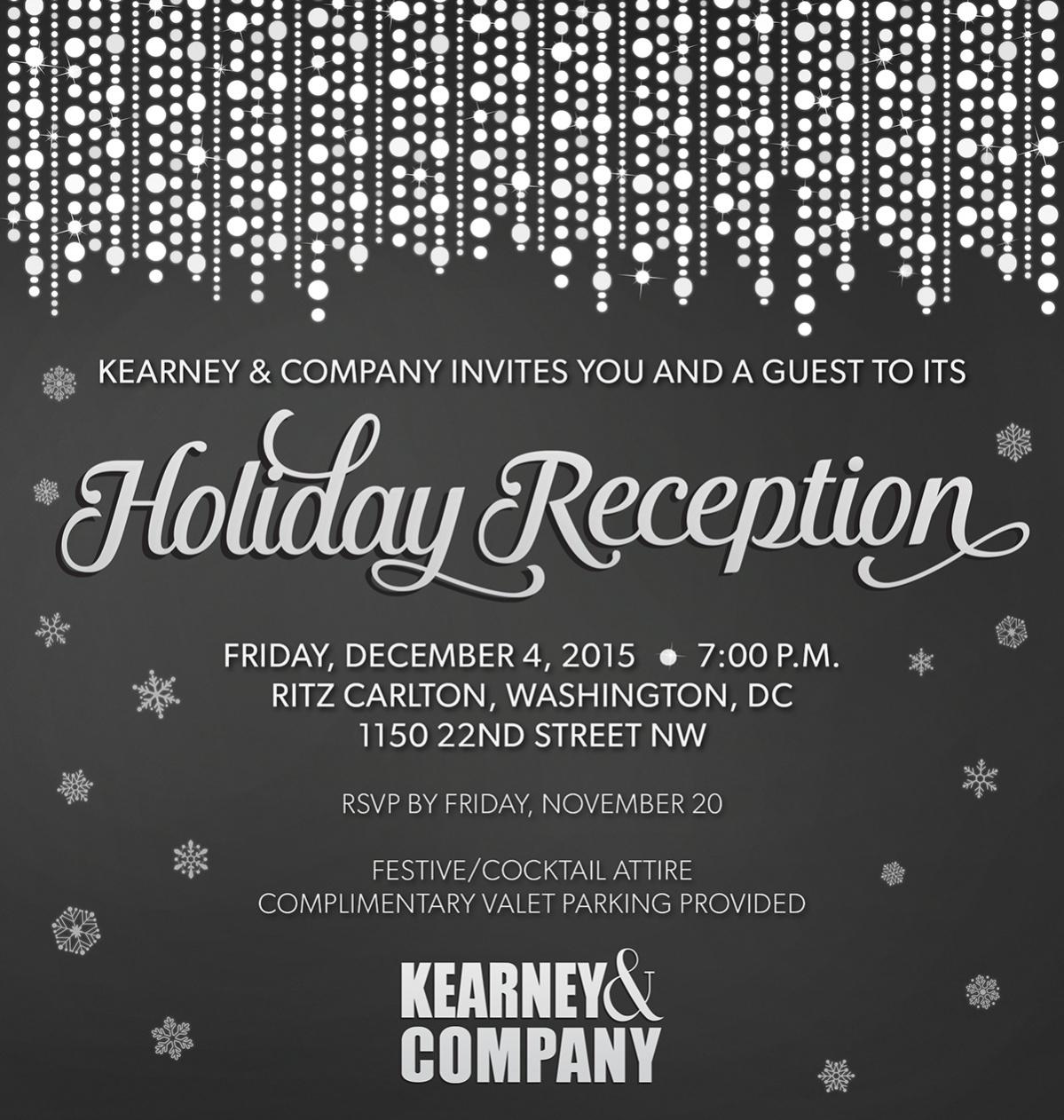 corporate reception invitation