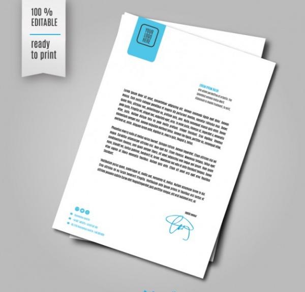 Corporative Letter Sheet Designs