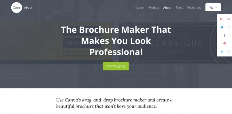 Create Professional Brochure Maker