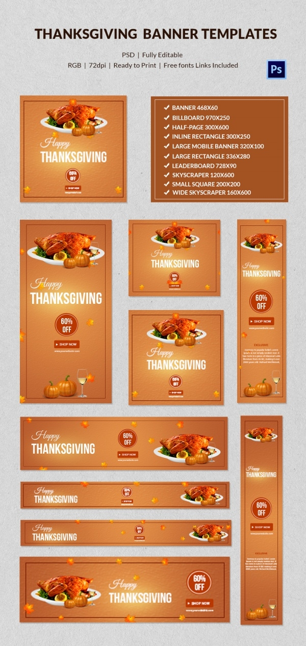 Creative Thanksgiving Banne