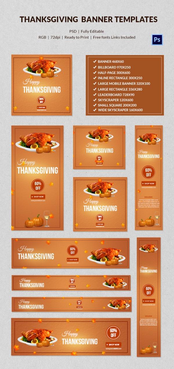 Creative Thanksgiving Banne