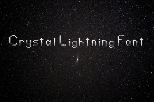 Crystal Lightning Font