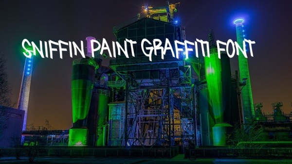 Cursive Sniffin Paint Graffiti Font