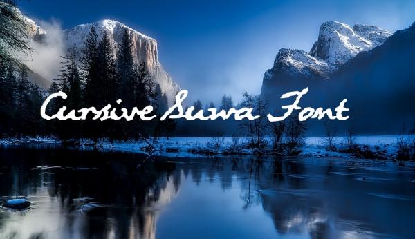 Cursive Suwa Handwriting Font