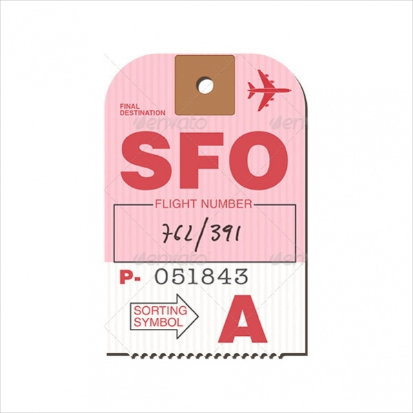 Customizable Vector Luggage Tag