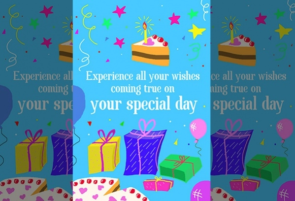 Customized Electronic Birthday Wishes Card