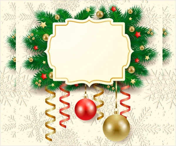 Cute Christmas cards with frame vector