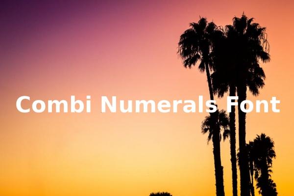 Cute Combi Numerals Font
