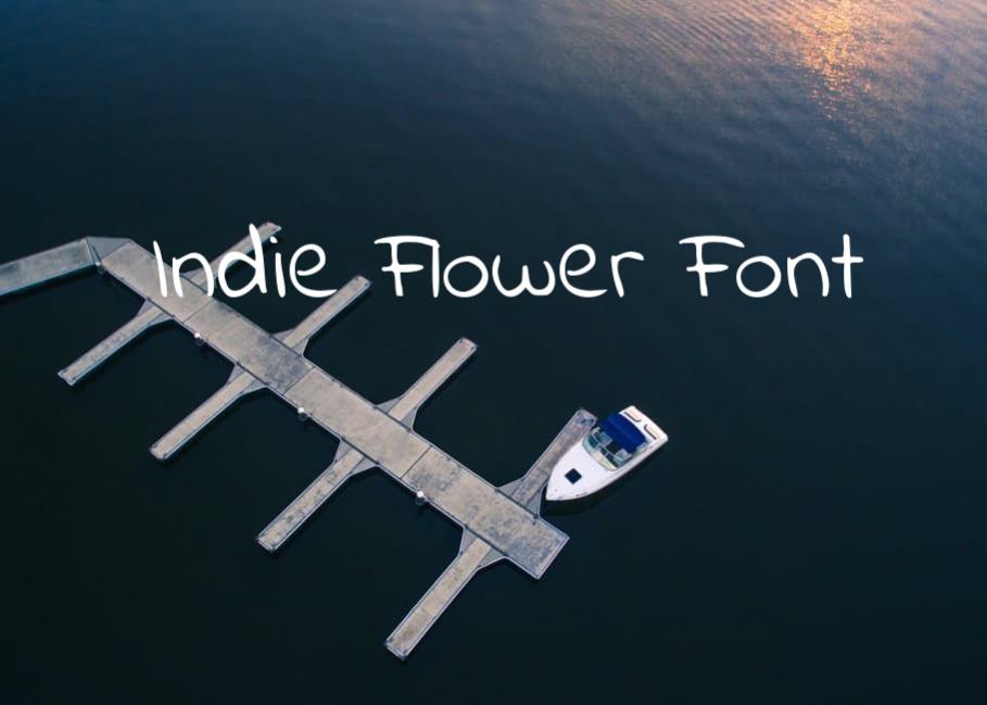 Cute Indie Flower Font