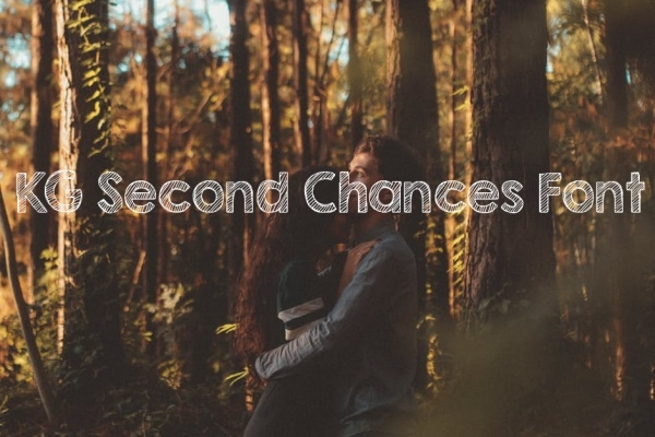 Cute KG Second Chances Chalkboard Font