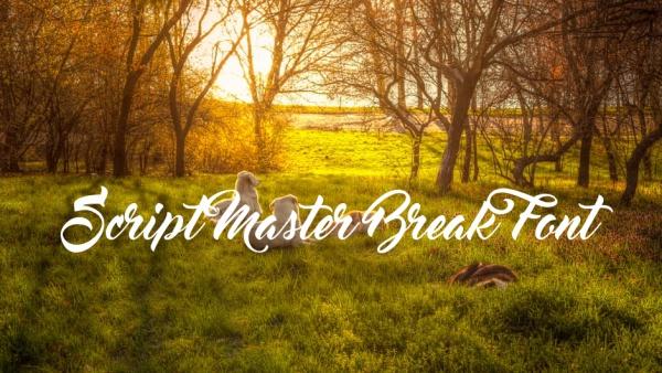 Cute Script Master Break Font