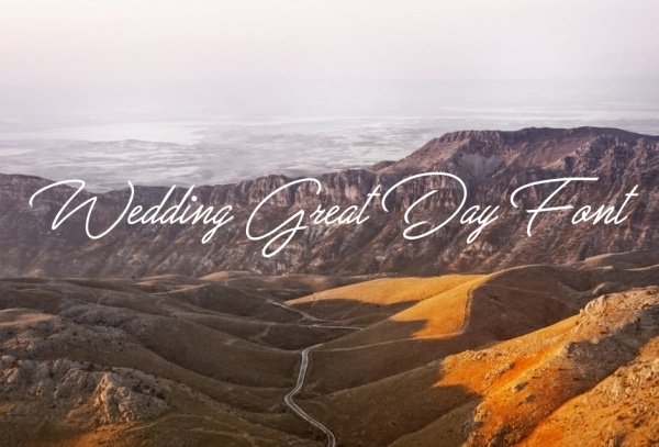Cute Wedding Great Day Font