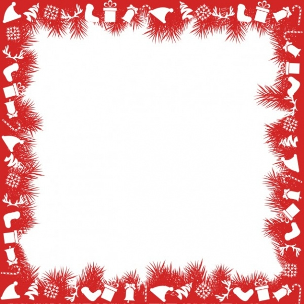 Decorative Merry Christmas Frame vector