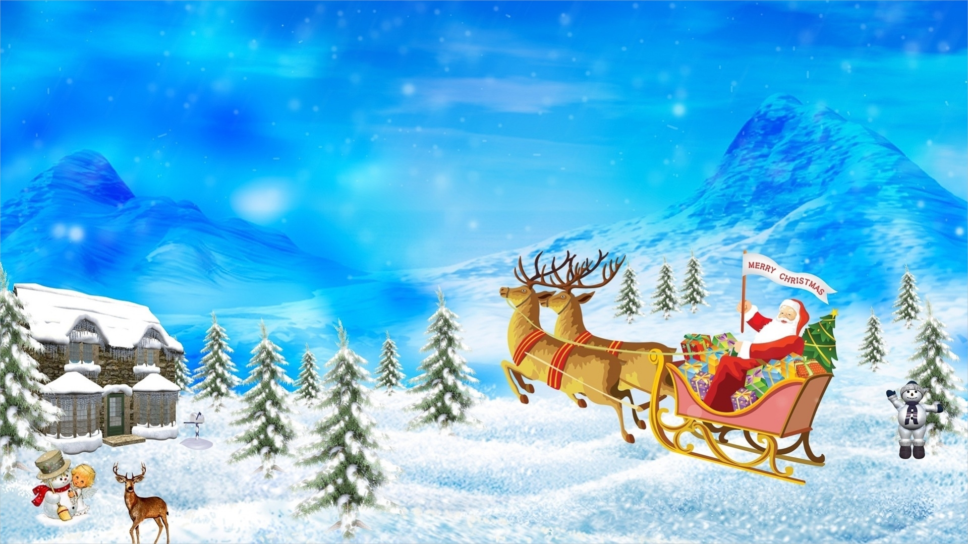 Digital Christmas Background