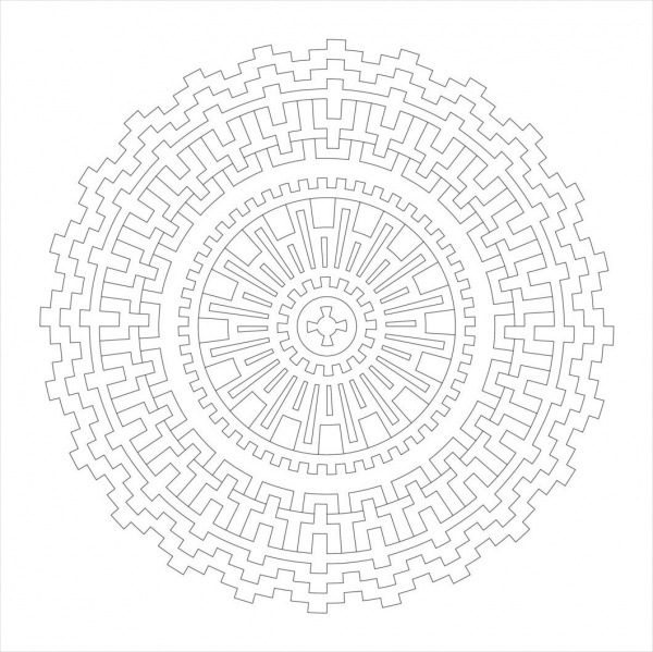Digital Mandala Coloring Pages