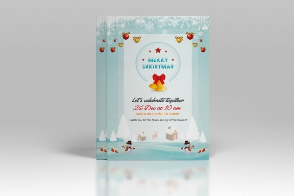 Digital Printable Christmas invitation