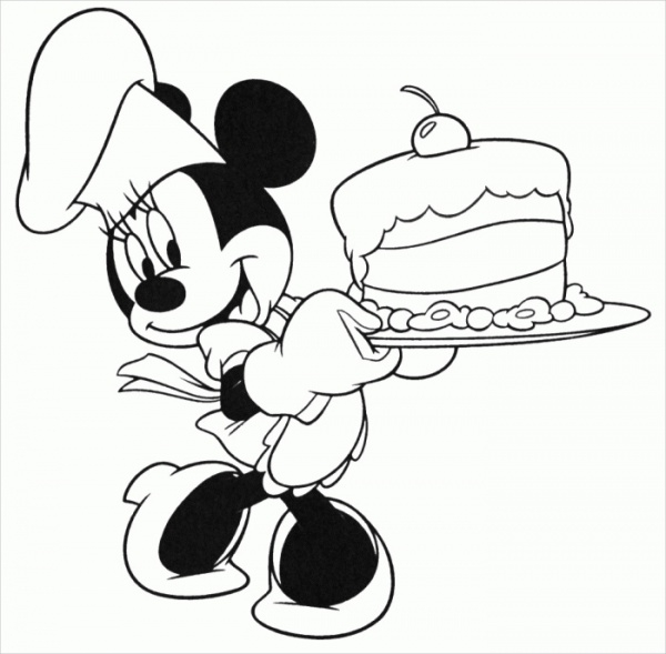 Disney Birthday Coloring Page