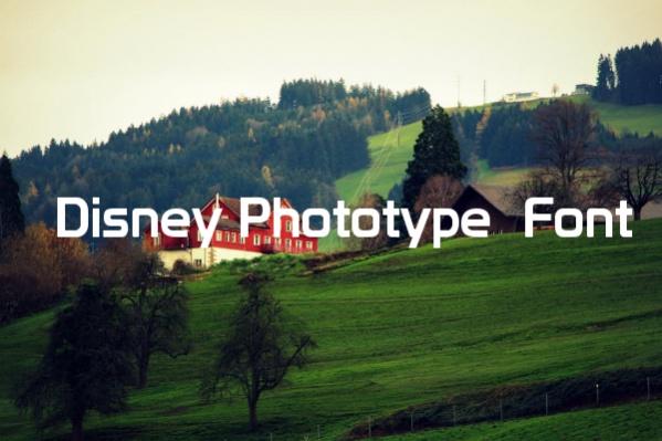 Disney Phototype Font