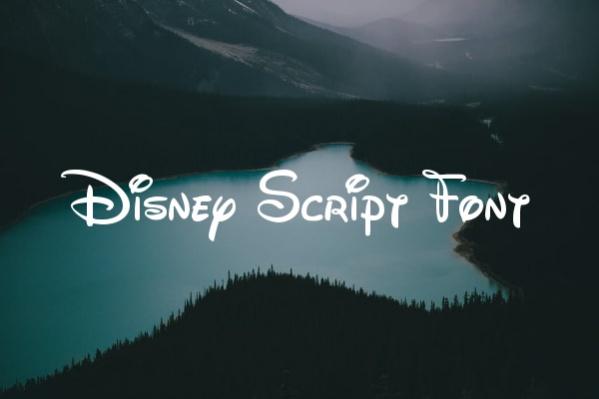Disney Script Font