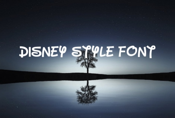 Disney Style Font