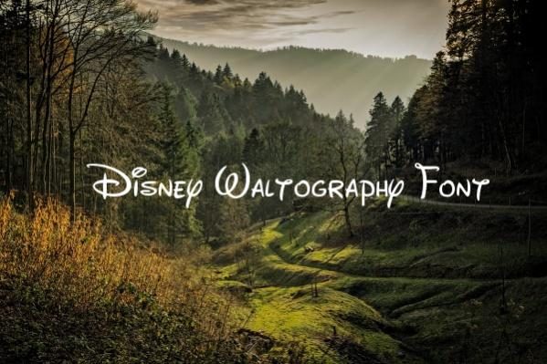 Disney Waltography Font