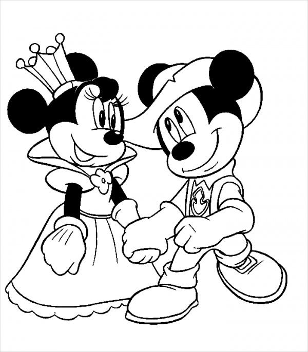 Disney Wedding Coloring Page