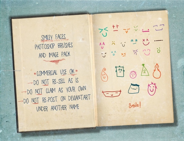 Downloadable Smile Brushes