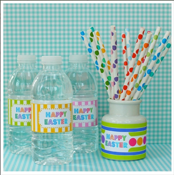 Easter Water Bottle Labels