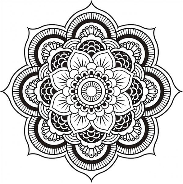 FREE 21+ Mandala Coloring Pages in AI