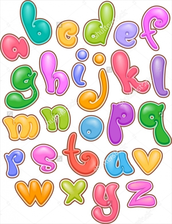Editable Bubble Letters