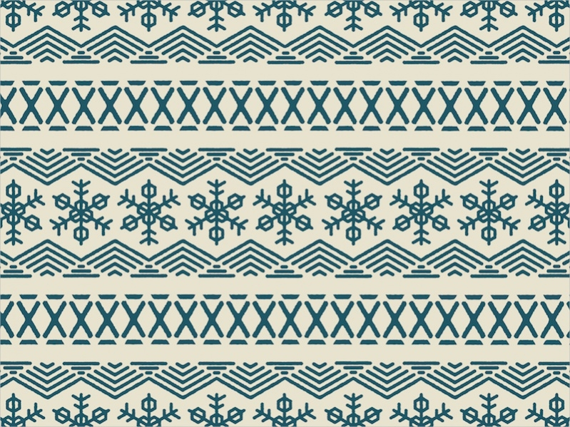 Editable Snowflake Pattern
