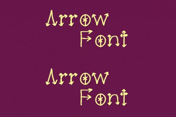 elegant-arrow-font-for-you