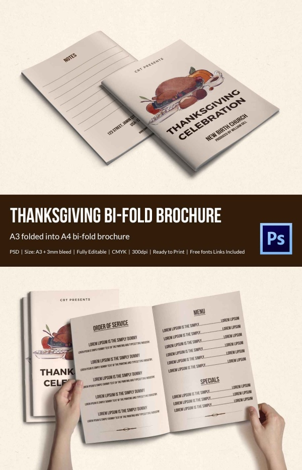Elegant Thanksgiving brochure