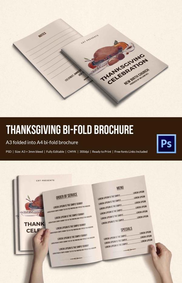 Elegant Thanksgiving brochure