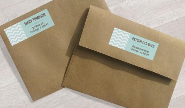 Envelope Return Address Label
