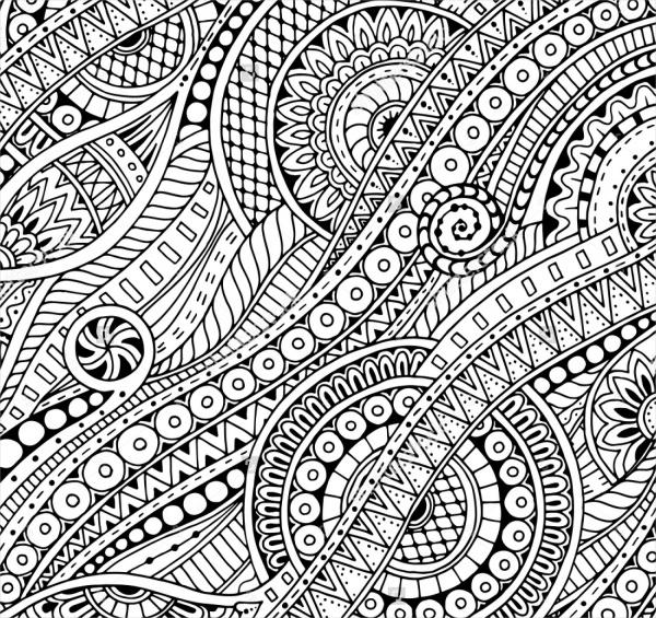 ethnic paisley zentangle pattern