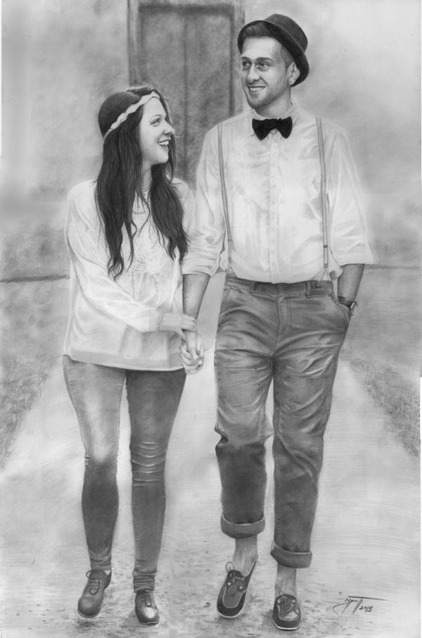Fabulous Couple Drawing