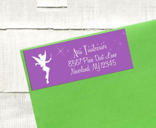 Fairy Birthday Return Address label