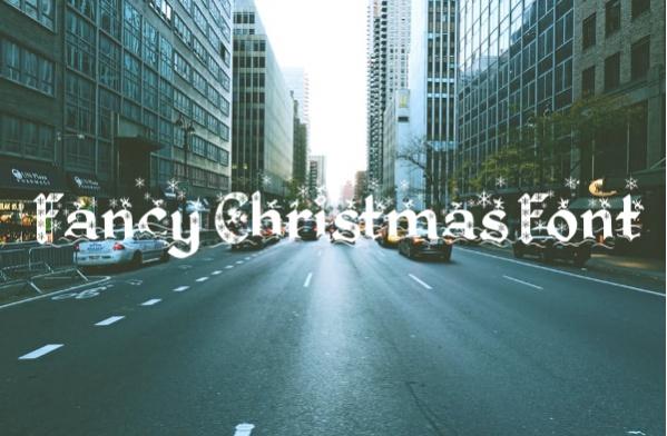 Fancy Christmas Font