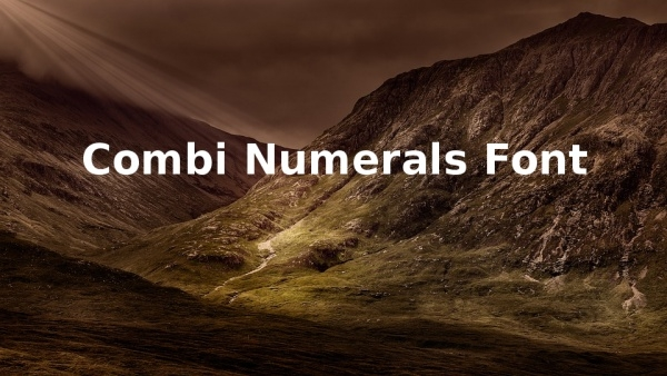 Fancy Combi Numerals Fonts