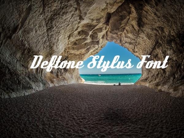 Fancy Cursive Deftone Stylus Font