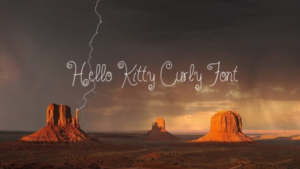 Fancy Hello Kitty Curly Font