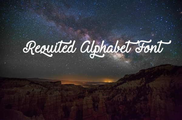 Fancy Requited Alphabet Font