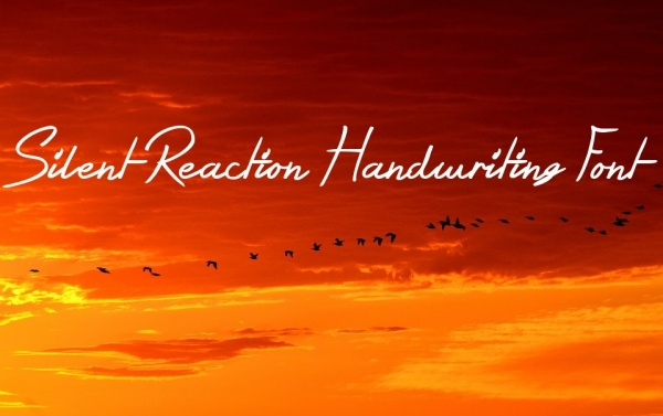 Fancy Silent Reaction Handwriting Font