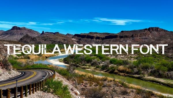 Fancy Tequila Western Font