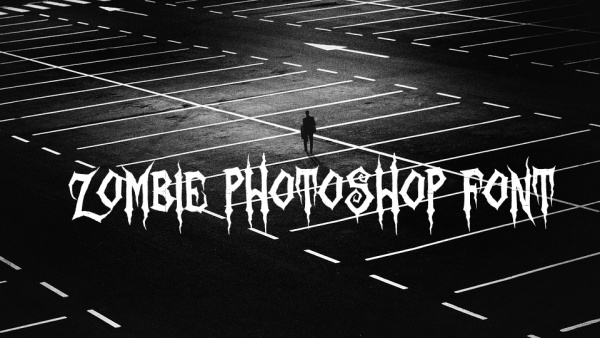 Fancy Zombie Photoshop Font